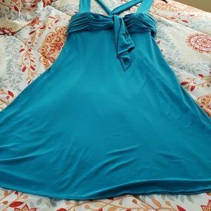 Aqua blue semi-formal dress